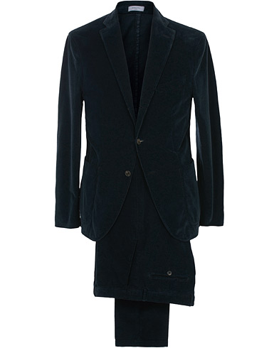 Boglioli K Jacket Patch Pocket Corduroy Suit Navy i gruppen Klær / Dresser / Todelte dresser hos Care of Carl (16224711r)