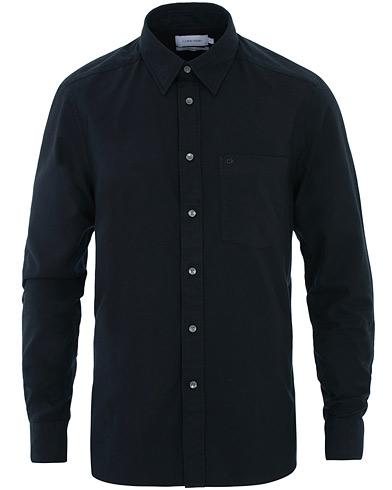 Calvin Klein Brushed Twill Shirt Black i gruppen Klær / Skjorter / Casual hos Care of Carl (16230211r)