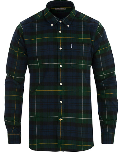 Barbour Lifestyle Highland Flannel Check Shirt Green i gruppen Klær / Skjorter / Casual hos Care of Carl (16238611r)