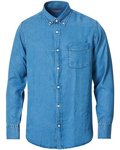 NN07 Levon Tencel Denim Shirt Light Blue i gruppen Klær / Skjorter / Casual / Jeansskjorter hos Care of Carl (16258111r)