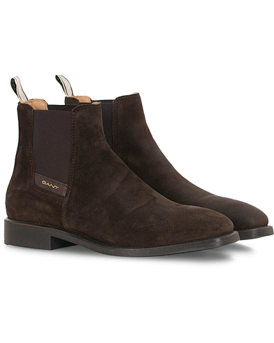 GANT James Chelsea Boot Dark Brown Suede i gruppen Sko / Støvler hos Care of Carl (16266111r)