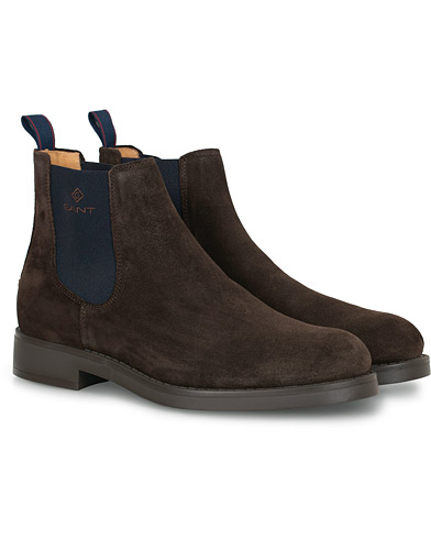 GANT Oscar Chelsea Boot Dark Brown Suede i gruppen Sko / Støvler hos Care of Carl (16266611r)