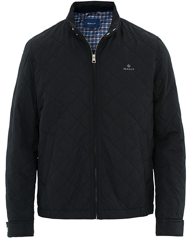 GANT The Quilted Windcheater Jacket Black i gruppen Klær / Jakker / Quiltede jakker hos Care of Carl (16269311r)