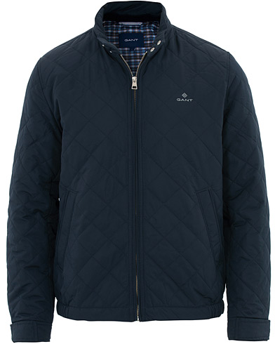 GANT The Quilted Windcheater Jacket Navy i gruppen Klær / Jakker / Quiltede jakker hos Care of Carl (16269411r)