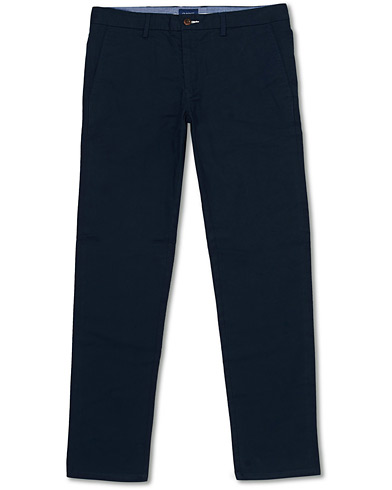 GANT Slim Fit Tech Prep Chino Marine i gruppen Klær / Bukser / Chinos hos Care of Carl (16271411r)
