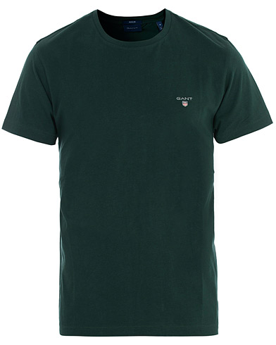 GANT The Original Solid Tee Tartan Green i gruppen Klær / T-Shirts / Kortermede t-shirts hos Care of Carl (16278411r)