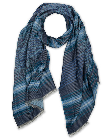 Etro Cotton/Modal Paisley Scarf Light Blue  i gruppen Assesoarer / Scarves hos Care of Carl (16288510)