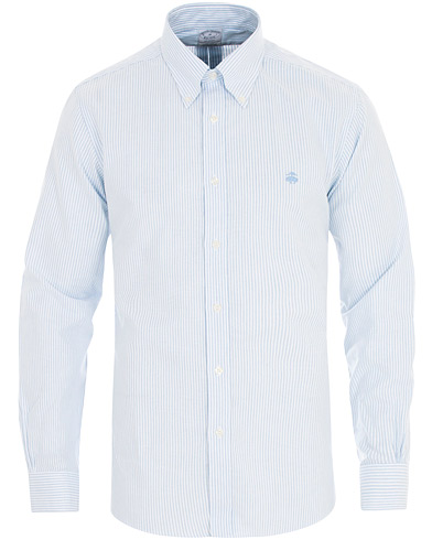 Brooks Brothers Regent Fit Non Iron Striped Oxford Shirt Light Blue i gruppen Klær / Skjorter / Casual hos Care of Carl (16289511r)