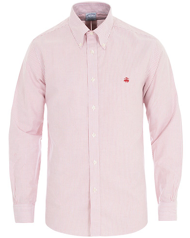 Brooks Brothers Regent Fit Non Iron Striped Oxford Shirt Red i gruppen Klær / Skjorter / Casual hos Care of Carl (16289711r)