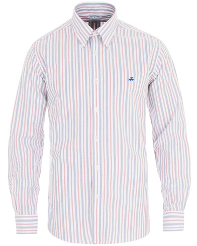 Brooks Brothers Regent Fit Non Iron Multistriped Oxford Shirt Red i gruppen Klær / Skjorter / Casual hos Care of Carl (16289911r)