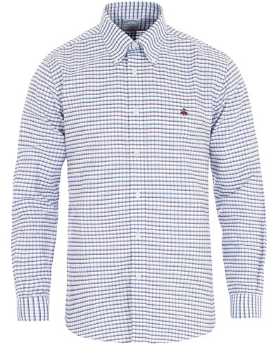 Brooks Brothers Regent Fit Non Iron Multistripe Oxford Shirt Blue i gruppen Klær / Skjorter / Casual hos Care of Carl (16290011r)