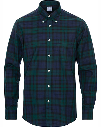 Brooks Brothers Blackwatch Brooks Tartan Shirt Blue/Green i gruppen Klær / Skjorter / Casual hos Care of Carl (16293011r)