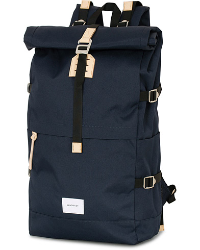 Sandqvist Bernt Cordura Eco Roll Top Navy/Nature  i gruppen Assesoarer / Vesker hos Care of Carl (16296910)