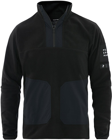 Peak Performance Fleece Half Zip Black i gruppen Klær / Gensere / Zip-gensere hos Care of Carl (16328311r)