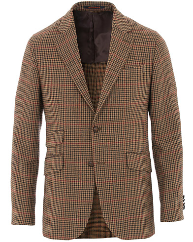 Morris Strafford Tweed Check Blazer Brown i gruppen Klær / Dressjakker / Tweedblazer hos Care of Carl (16335411r)
