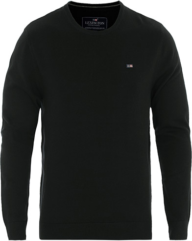 Lexington Bradley Crew Neck Sweater Black i gruppen Klær / Gensere / Pullovere rund hals hos Care of Carl (16355211r)