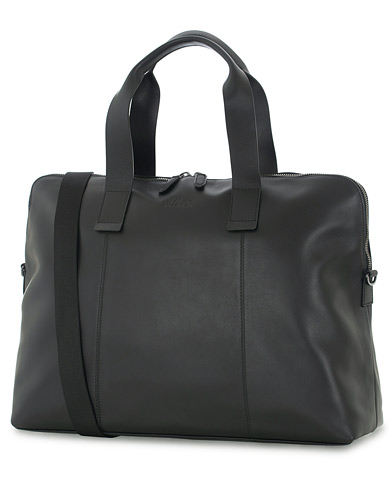 Oscar Jacobson Leather Weekendbag Black  i gruppen Assesoarer / Vesker hos Care of Carl (16360410)