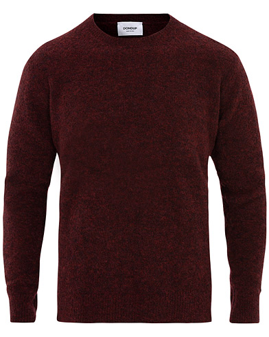Dondup Boucle Wool Crew Neck Wine Red i gruppen Klær / Gensere / Strikkede gensere hos Care of Carl (16369111r)