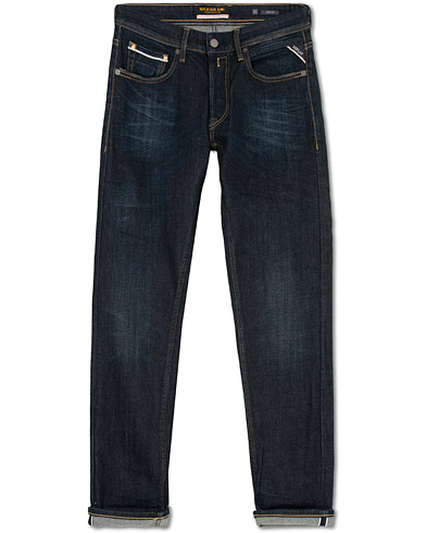 Replay Groover Stretch Selvedge Jeans Dark Blue i gruppen Klær / Jeans hos Care of Carl (16371411r)