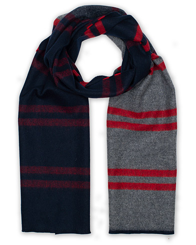 Begg & Co Vigo Block Lambswool/Cashmere Scarf Carney Flannel Red  i gruppen Assesoarer / Skjerf hos Care of Carl (16401410)