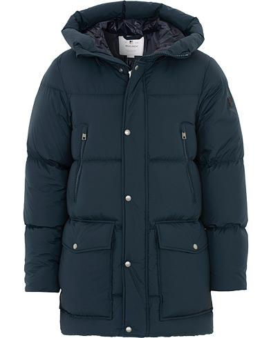 Woolrich Sierra Supreme Down Long Jacket Melton Blue
