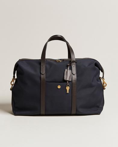 Mismo M/S Avail 48h Nylon Weekendbag Navy/Dark Brown