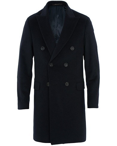 Oscar Jacobson Sebastian Wool/Cashmere Double Breasted Coat Navy i gruppen Klær / Jakker / Frakker hos Care of Carl (16450311r)
