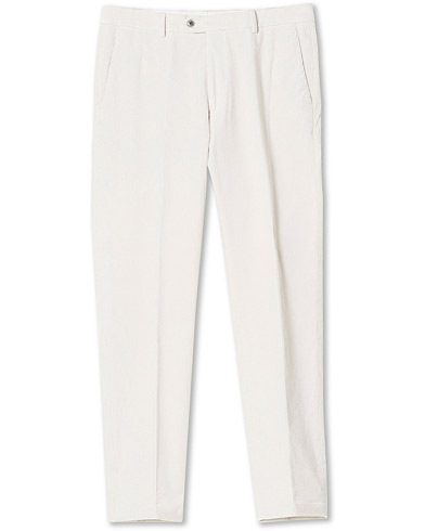 Oscar Jacobson Denz Corduroy Trousers White