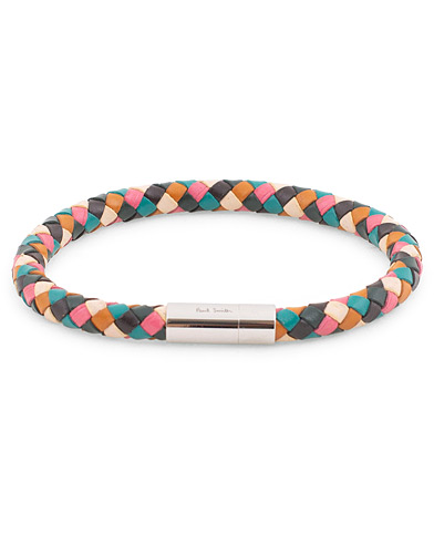 Paul Smith Woven Leather Plait Bracelet Multi  i gruppen Assesoarer / Armbånd hos Care of Carl (16456010)