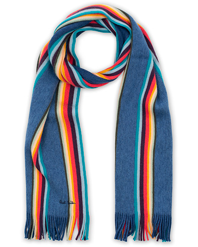 Paul Smith Artist Twisted Block Wool Scarf Blue  i gruppen Assesoarer / Skjerf hos Care of Carl (16459110)