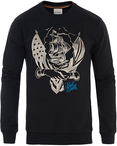 Paul Smith Mark Mahony Tattoo Embroidery Sweatshirt Black i gruppen Klær / Gensere / Sweatshirts hos Care of Carl (16460411r)