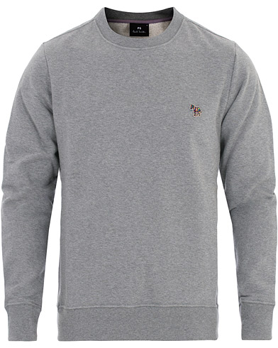 PS Paul Smith Logo Sweatshirt Grey Melange i gruppen Klær / Gensere / Sweatshirts hos Care of Carl (16464211r)