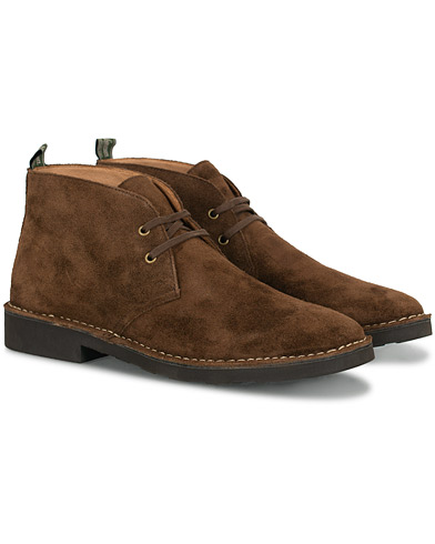 Polo Ralph Lauren Talan Chukka Boot Chocolate Brown Suede i gruppen Sko / Støvler / Chukka boots hos Care of Carl (16482211r)