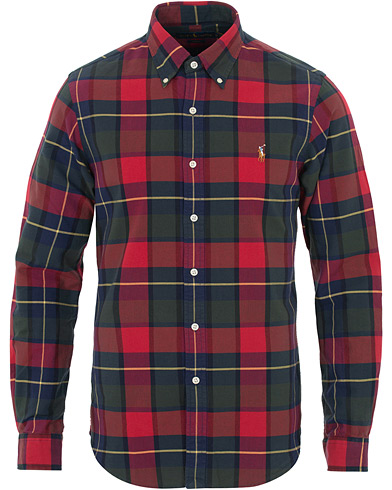 Polo Ralph Lauren Slim Fit Oxford Check Shirt Red i gruppen Klær / Skjorter / Casual hos Care of Carl (16496011r)