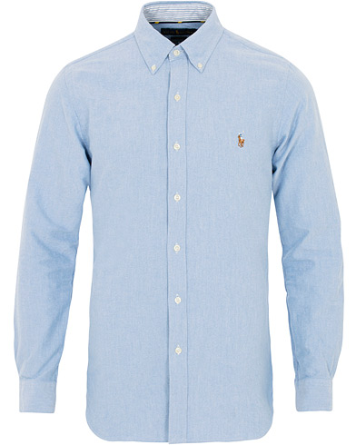 Polo Ralph Lauren Slim Fit Contrast Oxford Shirt Light Blue i gruppen Klær / Skjorter / Casual hos Care of Carl (16497311r)