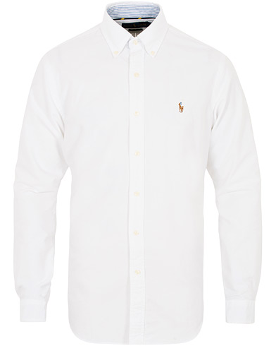Polo Ralph Lauren Core  Fit Contrast Oxford Shirt White i gruppen Klær / Skjorter / Casual hos Care of Carl (16497811r)