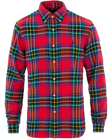 Polo Ralph Lauren Custom Fit Flannel Check Shirt Red i gruppen Klær / Skjorter / Casual hos Care of Carl (16498411r)