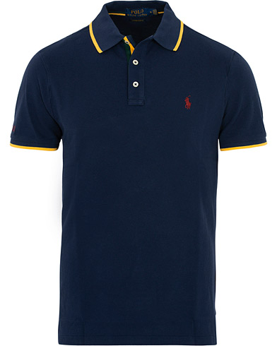 Polo Ralph Lauren Custom Slim Fit Crest Polo French Navy i gruppen Klær / Pikéer / Kortermet piké hos Care of Carl (16509611r)