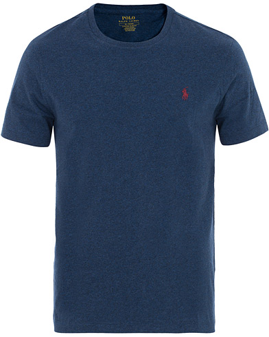Polo Ralph Lauren Crew Neck Tee Monroe Blue Heather i gruppen Klær / T-Shirts / Kortermede t-shirts hos Care of Carl (16511011r)