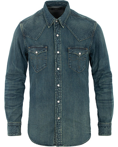 RRL Buffalo Western Shirt Dark Wash i gruppen Klær / Skjorter / Casual hos Care of Carl (16515011r)