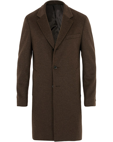 BOSS Nye Wool/Cashmere Coat Brown i gruppen Klær / Jakker / Frakker hos Care of Carl (16518011r)