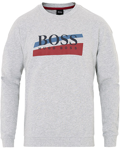 BOSS Authentic Long Sleeve Tee Grey i gruppen Klær / T-Shirts / Langermede t-shirts hos Care of Carl (16526111r)
