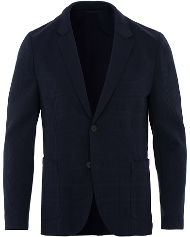 HUGO Slim Fit Agaltu Jersey Raw Edge Blazer Navy i gruppen Klær / Dressjakker / Ullblazer hos Care of Carl (16532211r)