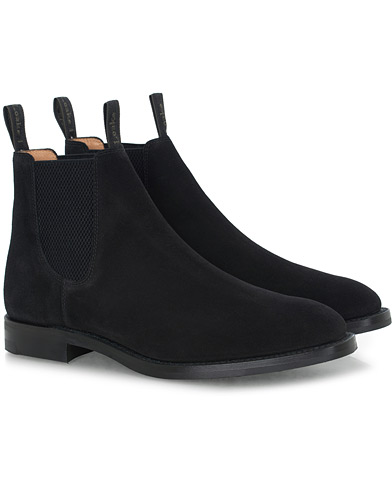 Loake 1880 Chatsworth Chelsea Boot Black Suede i gruppen Sko / Støvler hos Care of Carl (16564211r)