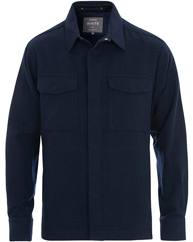 Private White V.C. The CPO Wool Shirt Jacket Navy