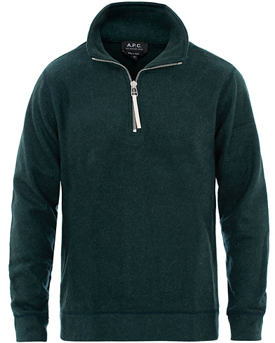 A.P.C Half Zip Sweater Green i gruppen Klær / Gensere / Zip-gensere hos Care of Carl (16577111r)