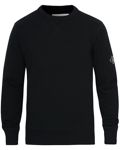Calvin Klein Jeans Monogram Sleeve Badge Sweatshirt Black i gruppen Klær / Gensere / Sweatshirts hos Care of Carl (16578911r)
