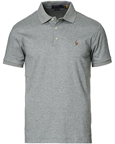 Polo Ralph Lauren Slim Fit Pima Cotton Polo Polo Steel Heather i gruppen Klær / Pikéer / Kortermet piké hos Care of Carl (16620311r)