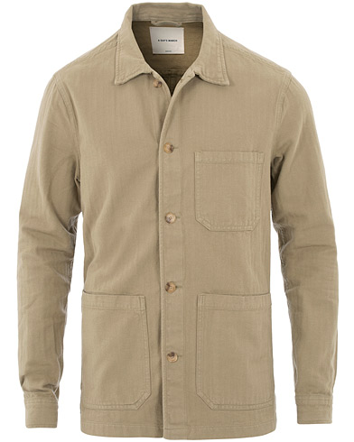 A Day's March Original Herringbone Overshirt Khaki i gruppen Klær / Skjorter / Casual hos Care of Carl (16621411r)