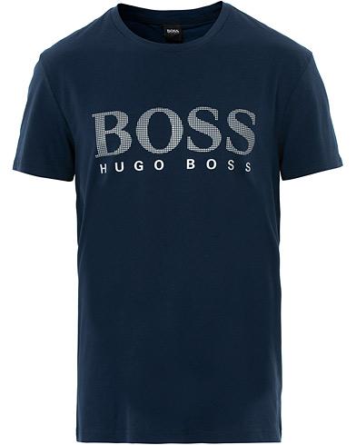 Boss Logo Crew Neck Tee Navy/Silver